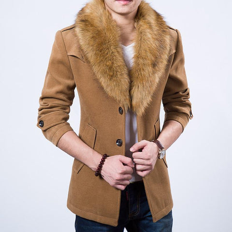 Men's Velvet Faux Fur Fashion Jacket In 4 Colors!