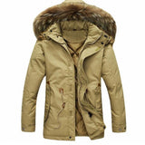 Men's Thick Parka Hooded Jacket 2 Color Options - TrendSettingFashions