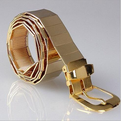 Men's All Metal Alloy Fashion Belt - TrendSettingFashions
