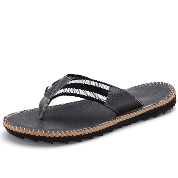 Men's Leather Flip Flop - TrendSettingFashions