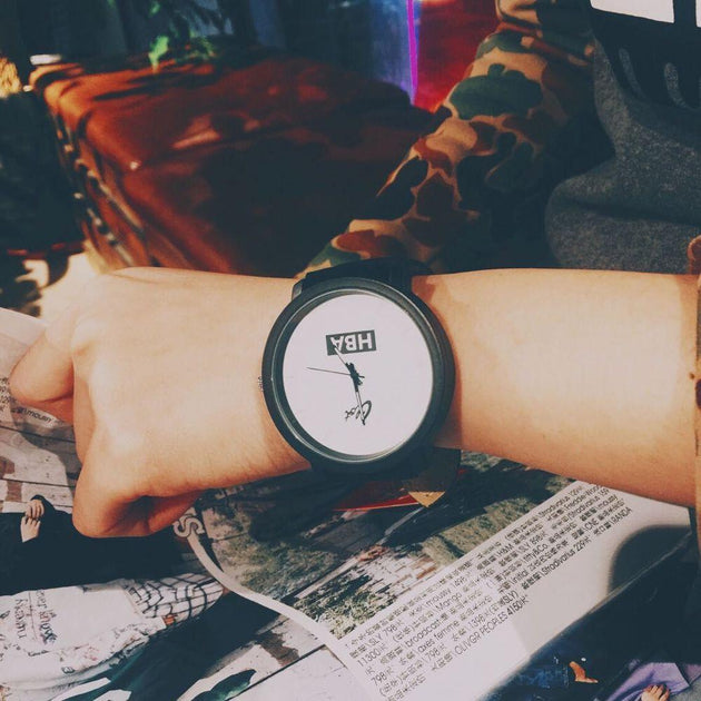 Large Dial Leather Strap Watch - TrendSettingFashions