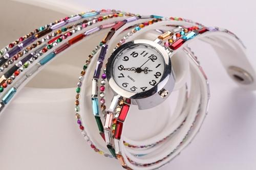 Women's Glass Jewel Watch With 9 Different Colors - TrendSettingFashions   - 10