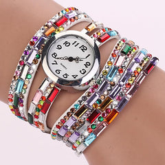 Women's Glass Jewel Watch With 9 Different Colors - TrendSettingFashions   - 1
