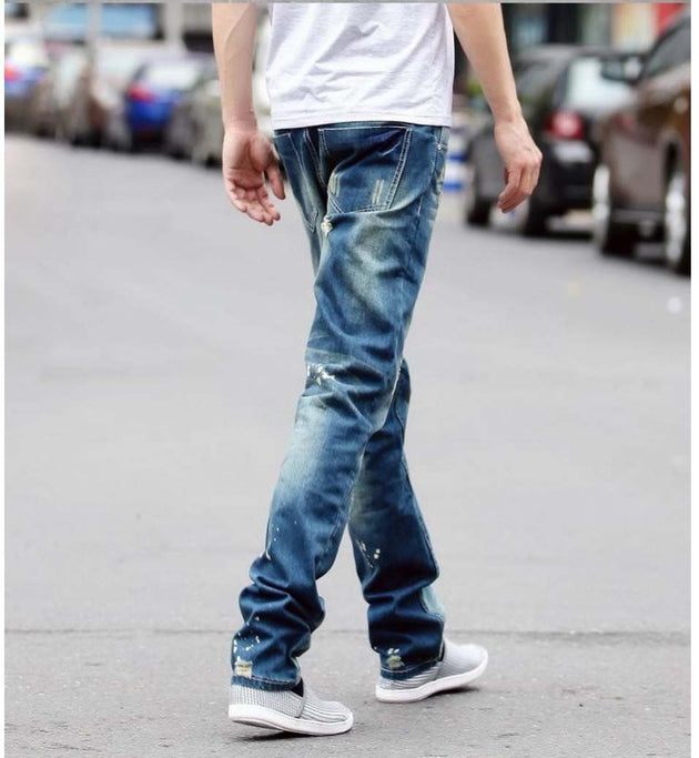 Men's Distressed Hole Jeans - TrendSettingFashions