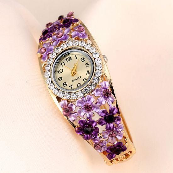 Women's Beautiful Glass Flower Inspired Watch In 5 Colors - TrendSettingFashions   - 7