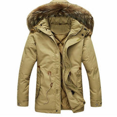 Men's Thick Parka Hooded Jacket 2 Color Options - TrendSettingFashions   - 3