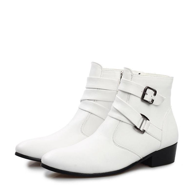 High Fashion Buckle High Top Dress Shoe - TrendSettingFashions