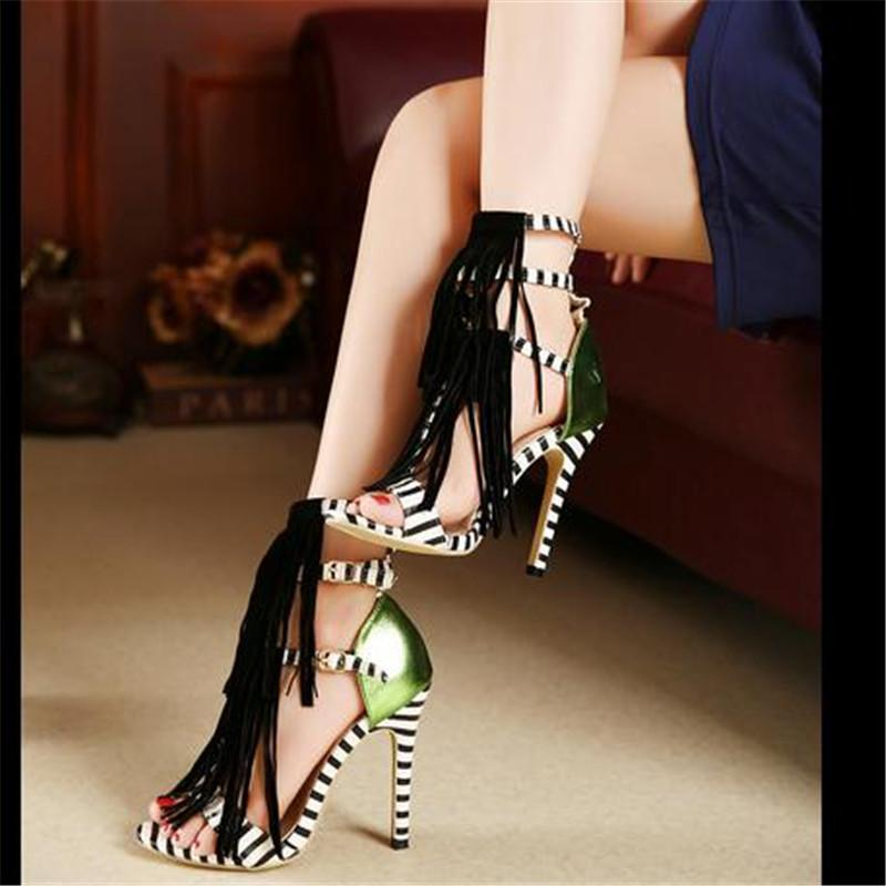 Women's Zebra Fashion Print Heels - TrendSettingFashions   - 3