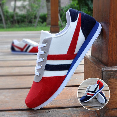 Men's Striped Canvas Shoe - TrendSettingFashions   - 1