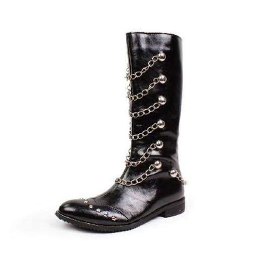 Men's Fashion Chain High Top Boots - TrendSettingFashions