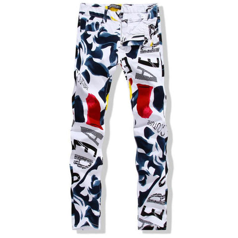 Fashion Print Unique Jeans
