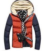 Men's Patchwork Thick Hooded Jacket In 4 Colors - TrendSettingFashions   - 7