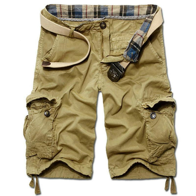 Men's Casual Solid Beach Cargo Shorts - TrendSettingFashions