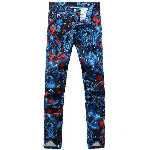 Blue Starry Fashion Jeans