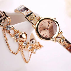 Women's Dual Heart Fashion Watch With Fashion Imprinted Band - TrendSettingFashions   - 5