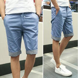 Men Summer Shorts Plaid Ruched - TrendSettingFashions