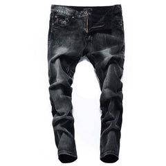 Men Black Colored Stonewashed Jeans - TrendSettingFashions   - 4