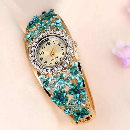 Women's Beautiful Glass Flower Inspired Watch In 5 Colors - TrendSettingFashions   - 4