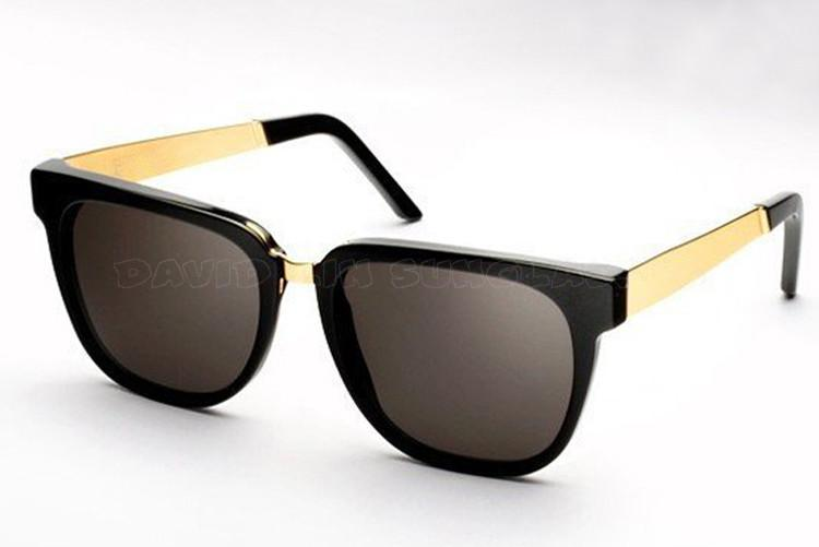 designer black sunglasses  Men\u0027s Black And Gold Fashion Designer Sunglasses ...