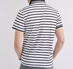 Men's Striped Summer Polo - TrendSettingFashions   - 5