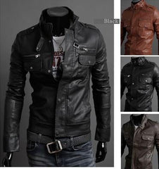Men's Riders Leather Jacket In 3 Colors! - TrendSettingFashions   - 1