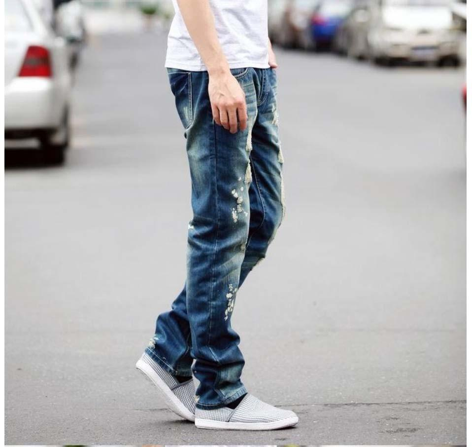 Men's Distressed Hole Jeans - TrendSettingFashions   - 6
