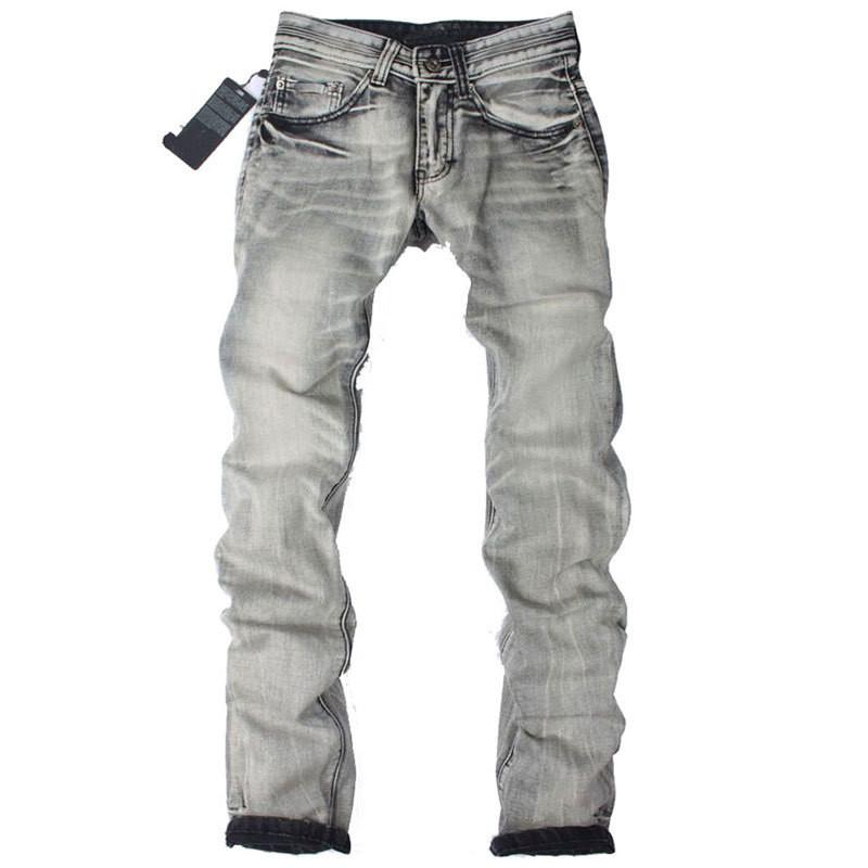 Men's Light Washed Grey Jeans - TrendSettingFashions   - 7