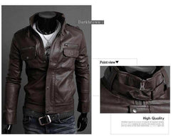 Men's Riders Leather Jacket In 3 Colors! - TrendSettingFashions   - 4