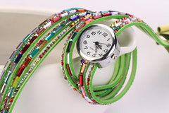 Women's Glass Jewel Watch With 9 Different Colors - TrendSettingFashions   - 9