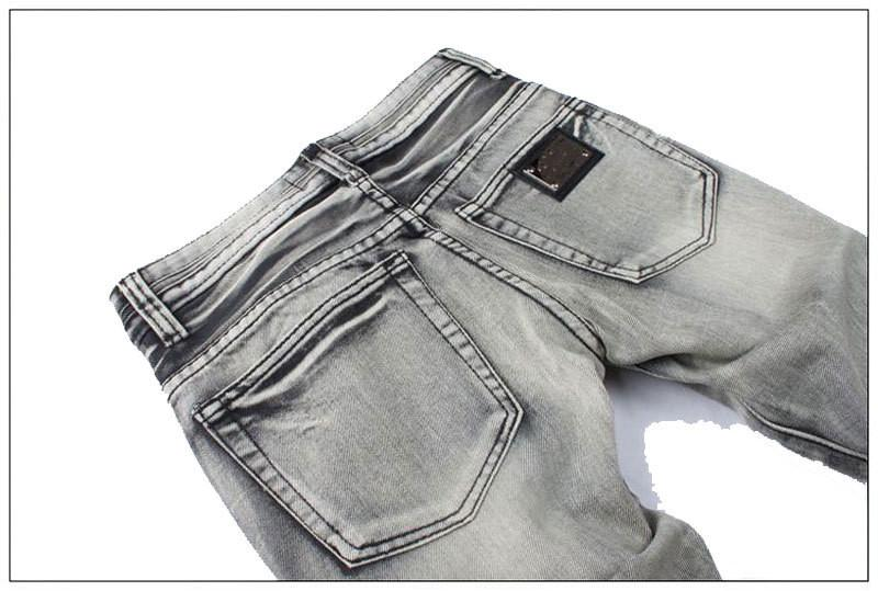 Men's Light Washed Grey Jeans - TrendSettingFashions   - 3
