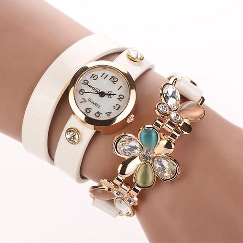 Women's Flower Design Watch With Fashion Design Band In 10 Colors! - TrendSettingFashions