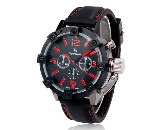 Men's Vogue Thick Case Analog Business Watch - TrendSettingFashions
