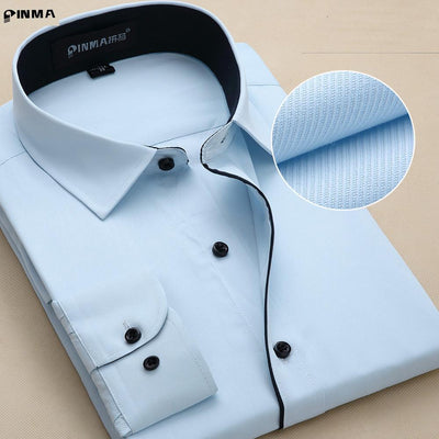 Men's Business Button Up, Colored Buttons - TrendSettingFashions