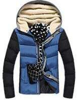 Men's Patchwork Thick Hooded Jacket In 4 Colors - TrendSettingFashions   - 4