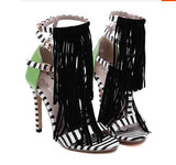 Women's Zebra Fashion Print Heels - TrendSettingFashions