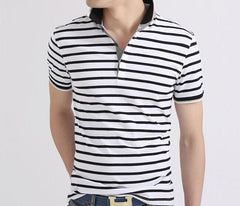Men's Striped Summer Polo - TrendSettingFashions   - 4