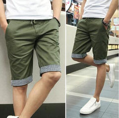 Men Summer Shorts Plaid Ruched - TrendSettingFashions   - 3
