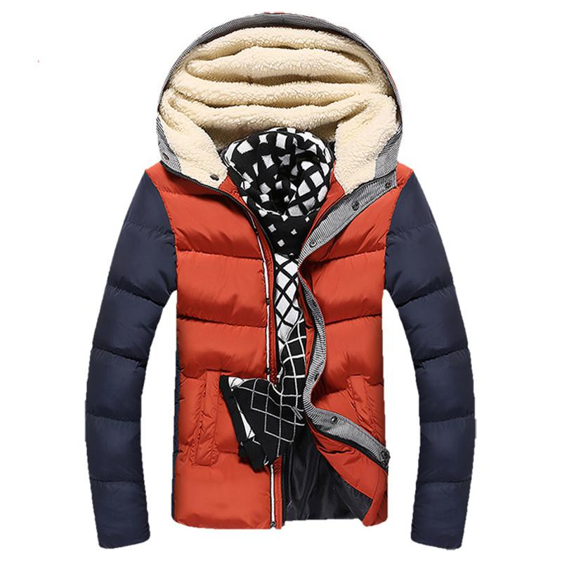Men's Patchwork Thick Hooded Jacket In 4 Colors - TrendSettingFashions   - 1