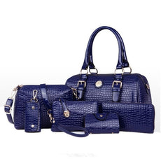 Women's 6 Bag Set, Huge VALUE With 5 Color Options - TrendSettingFashions   - 6