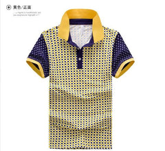 Men's Polka Dot Style Polo - TrendSettingFashions   - 1