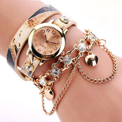 Women's Dual Heart Fashion Watch With Fashion Imprinted Band - TrendSettingFashions   - 3