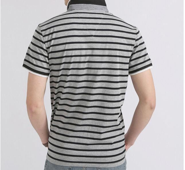 Men's Striped Summer Polo - TrendSettingFashions   - 2