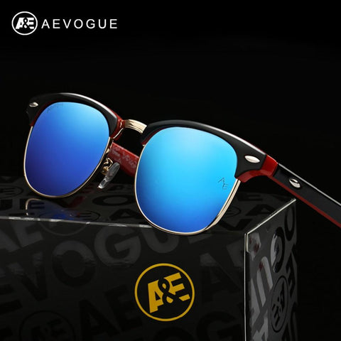 Men's Retro Rivet Polarized Sunglasses
