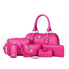 Women's 6 Bag Set, Huge VALUE With 5 Color Options - TrendSettingFashions   - 3