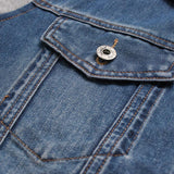 Men's Denim And Fleece Hoodie - TrendSettingFashions