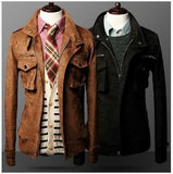 Men's Retro Business Fashion Jacket In 2 Colors - TrendSettingFashions