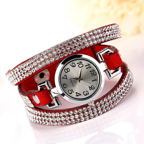 Women's Beautiful Rhinestone Bracelet Watch In 11 Colors! - TrendSettingFashions