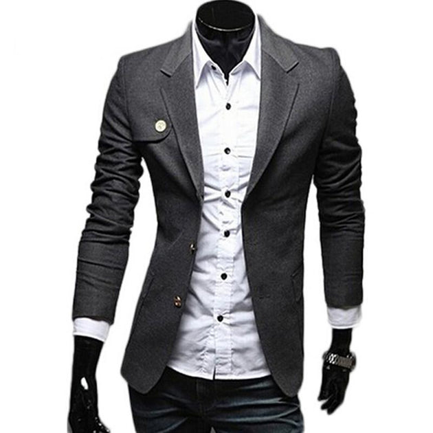 Men's Classic Single Breasted Blazer In 3 Colors - TrendSettingFashions