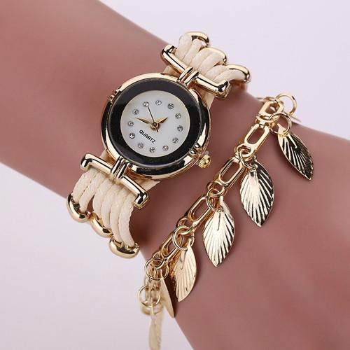 Women's Fashion Feather Style Watch In 7 Colors - TrendSettingFashions