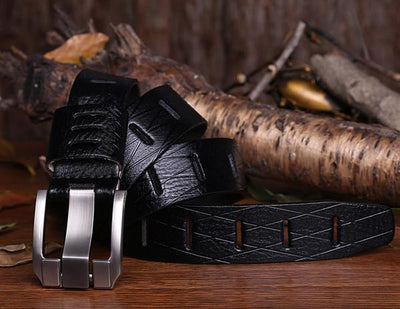Designer Style Leather Belt - TrendSettingFashions